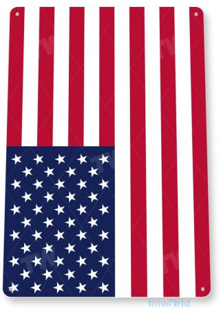 tin sign c515 american flag patriotic 4th july independence day memorial day tinworld tinsign_com