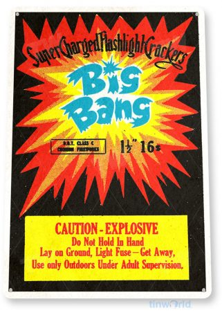tin sign c521 big bang firecrackers fireworks stand booth 4th july independence day new years tinworld tinsign_com