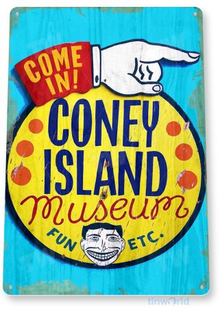 tin sign c529 coney island museum historic coney island carnival fair stand tinworld tinsign_com