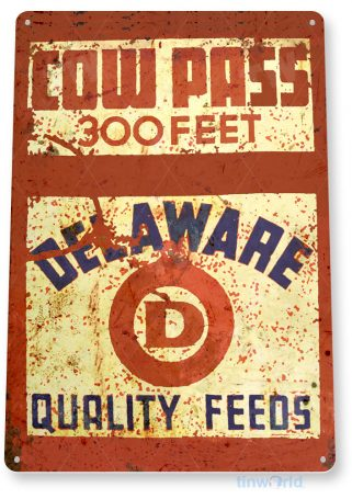 tin sign c533 cow pass feeds retro rustic feed seed store farm barn sign tinworld tinsign_com