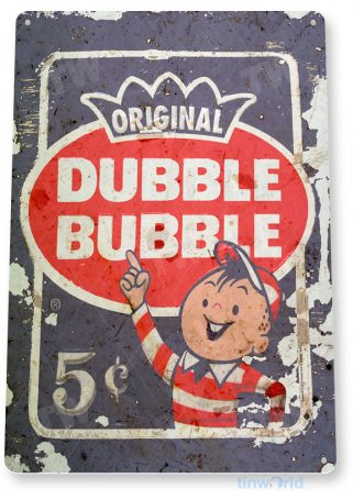 tin sign c536 double bubble gum retro rustic kitchen cottage store tinworld tinsign_com