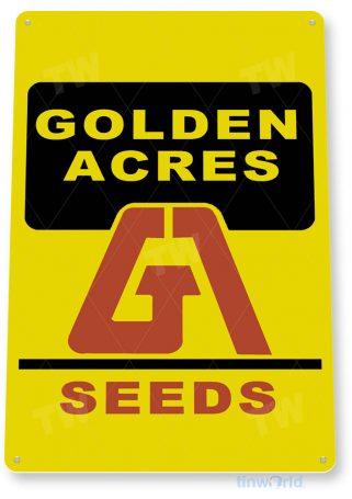 tin sign c541 golden acres seeds retro feed seed store farm barn sign tinworld tinsign_com