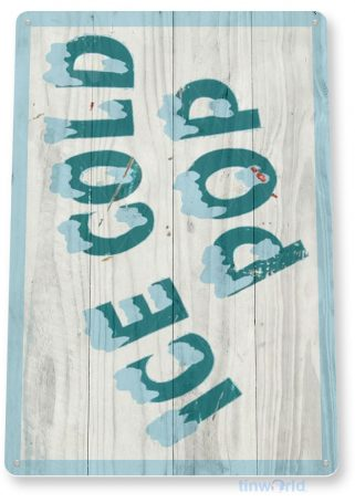 tin sign c542 ice cold pop coney island carnival fair food truck stand tinworld tinsign_com