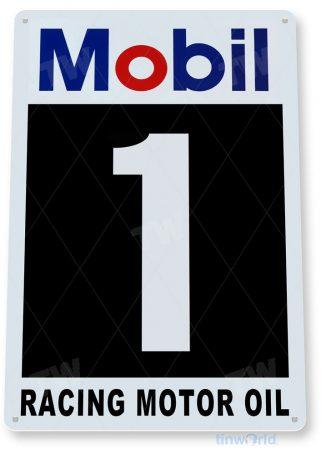tin sign c551 mobil 1 racing motor oil oil gas station sign garage auto shop cave tinworld tinsign_com