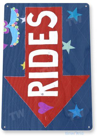 tin sign c556 rides coney island carnival fair rollercoaster rides tinworld tinsign_com