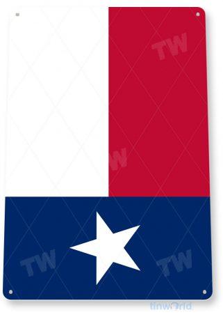 tin sign c562 texas flag patriotic texas tinworld tinsign_com