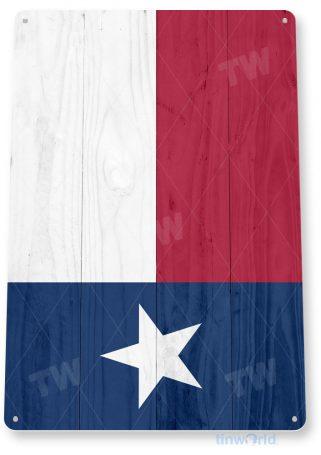 tin sign c576 texas flag wood rustic texas tinworld tinsign_com
