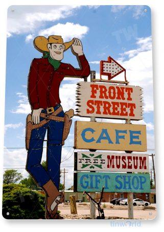 tin sign c585 las vegas retro historic cowboy neon tinworld tinsign_com
