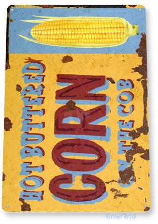 tin sign c596 buttered corn coney island fresh market fair grounds carnival food truck tinworld tinsign_com