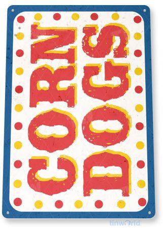 tin sign c598 corn dogs fresh market fair grounds carnival food truck tinworld tinsign_com