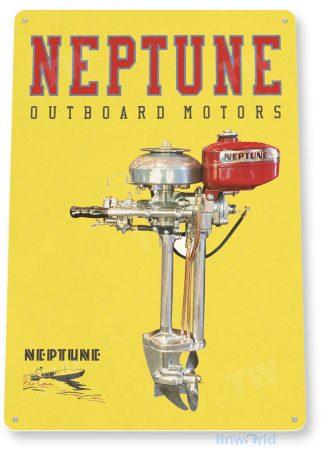 tin sign c601 neptune outboard motors retro boat motor engine tinworld tinsign_com