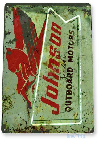 tin sign c604 johnson sea horse outboard motors retro boat motor engine tinworld tinsign_com