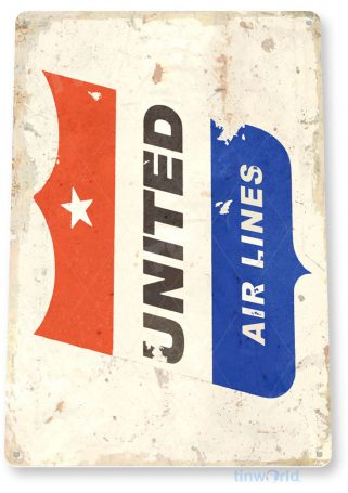 tin sign c615 united airlines retro commercial aviation tinworld tinsign_com