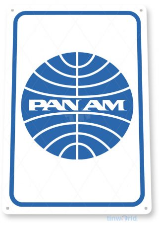 tin sign c622 pan am airlines retro commercial aviation tinworld tinsign_com
