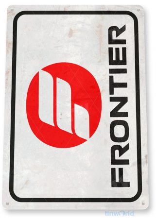 tin sign c628 frontier airlines retro commercial aviation tinworld tinsign_com