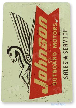 tin sign c630 johnson sea horse outboard motors retro boat motor engine tinworld tinsign_com