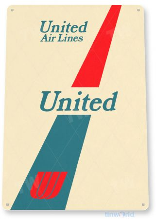 tin sign c633 united airlines retro commercial aviation tinworld tinsign_com