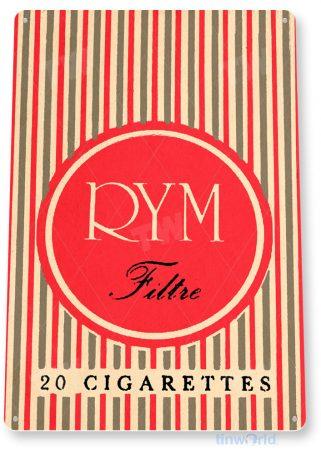 tin sign c638 rym filtre cigarettes tobacco cigar smoke shop tinworld tinsign_com