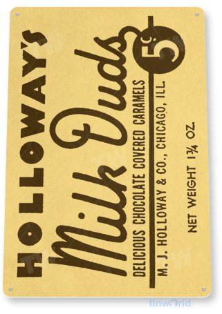 tin sign c641 milk duds retro chocolate candy tinworld tinsign_com