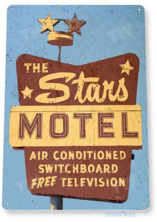 tin sign c644 the stars motel retro rustic las vegas casino tinworld tinsign_com