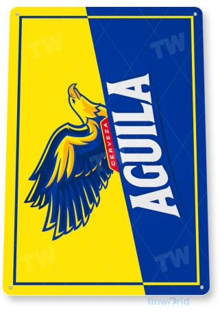 tin sign c646 aguila colombian beer sign rustic retro pub bar sign brewery cottage cave tinworld tinsign_com
