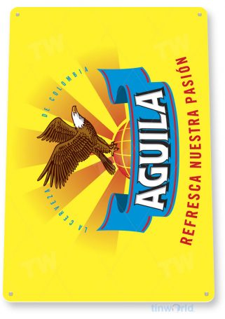 tin sign c647 aguila colombian beer sign rustic retro pub bar sign brewery cottage cave tinworld tinsign_com