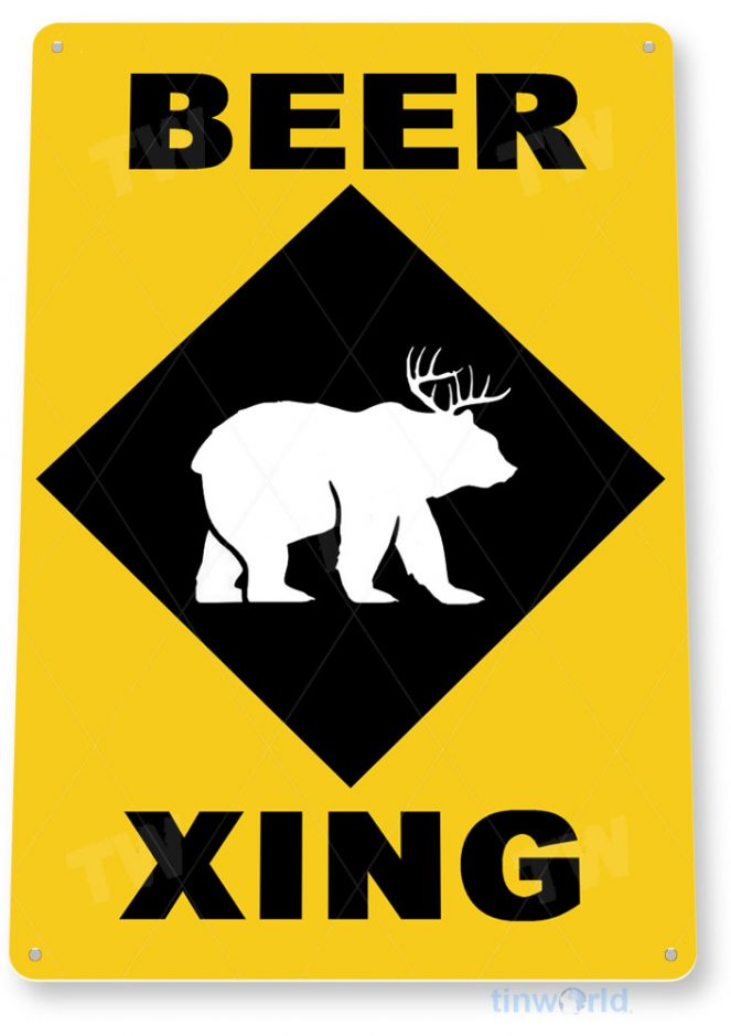 tin sign c657 beer bar pub beer sign brewery sign cottage cave crossing tinworld tinsign_com
