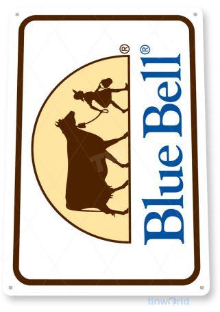 tin sign c658 blue bell vintage retro ice cream sign parlor kitchen cottage farm tinworld tinsign_com