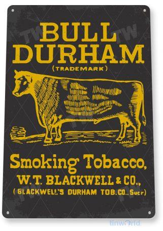tin sign c666 bull durham retro tobacco sign cigar smoke shop bar pub store sign cottage cave tinworld tinsign_com