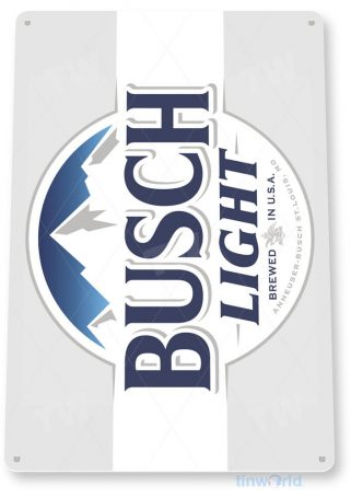 tin sign c669 busch light beer sign rustic retro pub bar sign brewery cottage cave tinworld tinsign_com