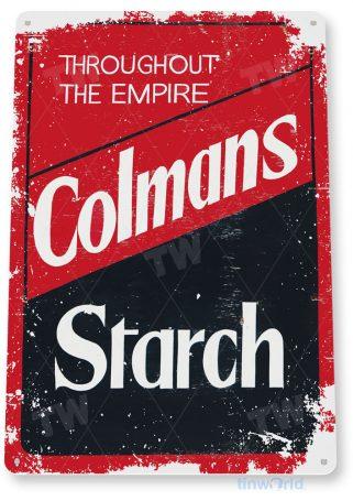 tin sign c674 colmans starch rustic retro kitchen sign cotttage farm tinworld tinsign_com