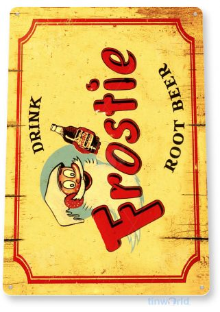 tin sign c687 frostie retro rustic root beer sign soda cola sign tinworld tinsign_com