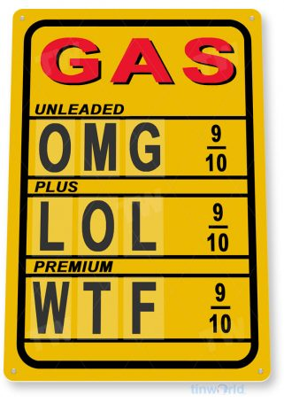 tin sign c693 high gas prices retro rustic oil gas station sign garage auto shop cave tinworld tinsign_com