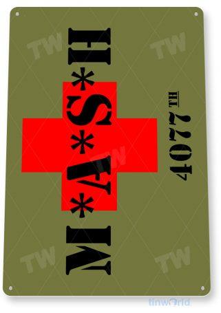 tin sign c705 mash sign 4077th retro tv show army sign tinworld tinsign_com