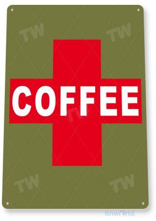 tin sign c706 emergency coffee sign shop sign kitchen cottage cafe sign tinworld tinsign_com