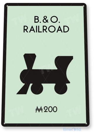 tin sign c714 monopoly b&o railroad game sign game room retro monopoly sign tinworld tinsign_com