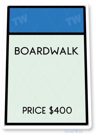 tin sign c715 monopoly boardwalk game sign game room retro monopoly sign tinworld tinsign_com