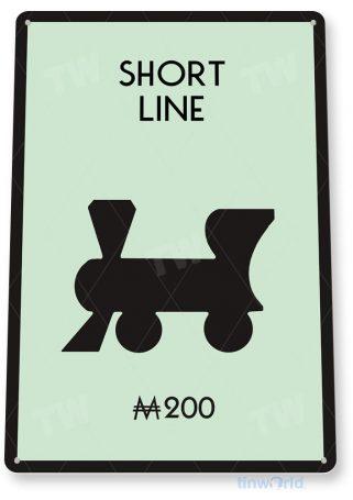 tin sign c724 monopoly short line railroad game sign game room retro monopoly sign tinworld tinsign_com