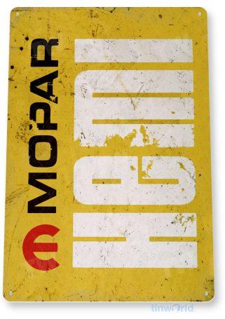 tin sign c727 mopar hemi engine sign rustic retro garage sign auto shop sign tinworld tinsign_com