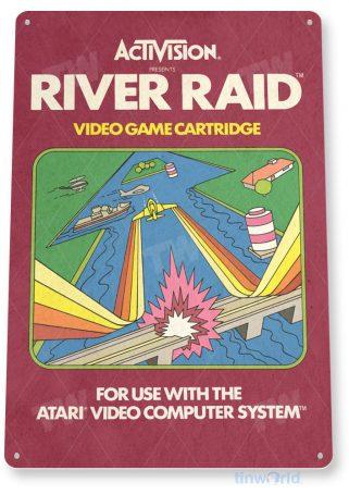 tin sign c743 river raid atari 2600 retro game sign home arcade tinworld tinsign_com