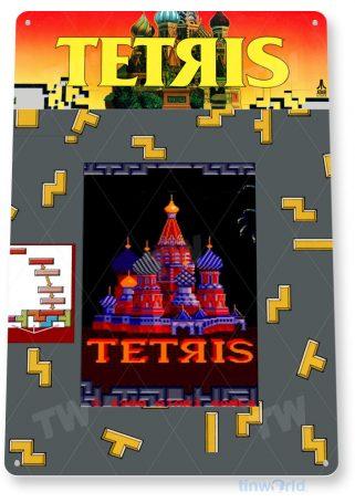 tin sign c760 tetris arcade game sign room shop marquee retro classic gaming console tinworld tinsign_com