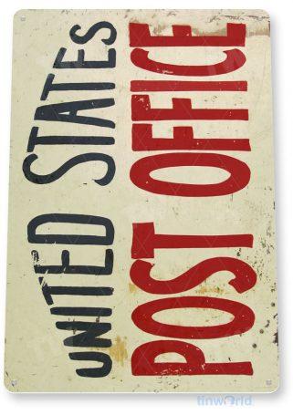 tin sign c764 united states post office sign retro rustic uspo sign tinworld tinsign_com