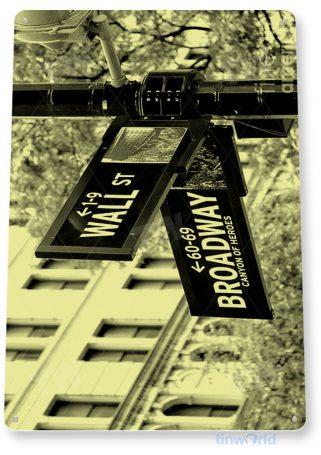 tin sign c766 wall street broadway new york street sign photo road sign tinworld tinsign_com