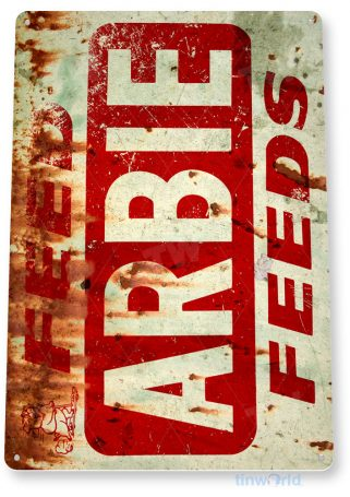 tin sign c784 arbie feeds retro rustic feed seed store farm barn sign tinworld tinsign_com