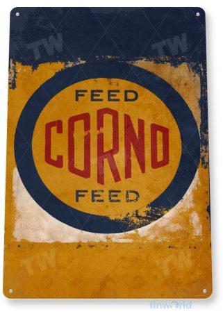 tin sign c796 corno feed retro rustic feed seed store farm barn sign tinworld tinsign_com