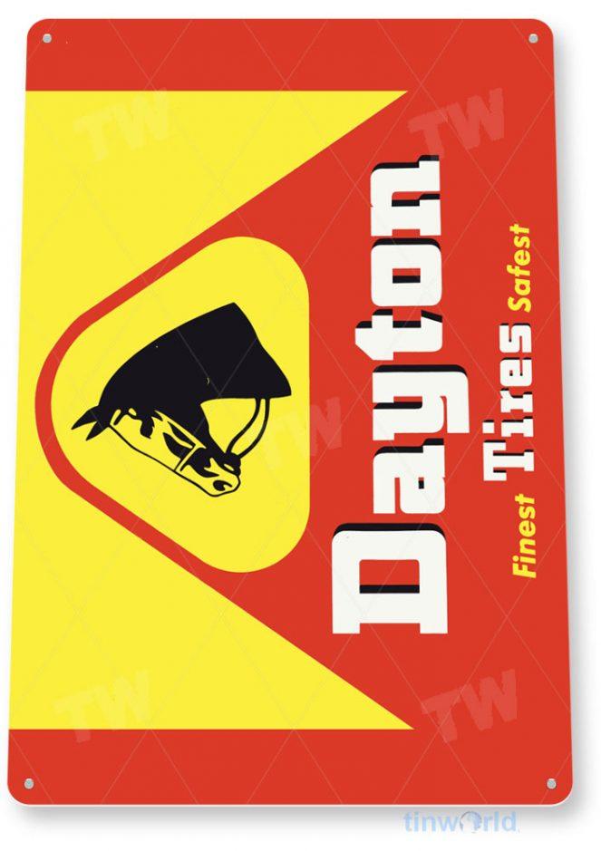 tin sign c801 dayton tires rustic retro garage sign auto shop sales dealer sign tinworld tinsign_com