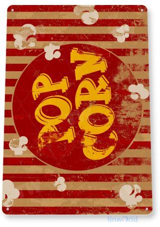 tin sign c826 popcorn kitchen cottage rustic retro home theater bar movie popcorn machine carnival sign tinworld tinsign_com