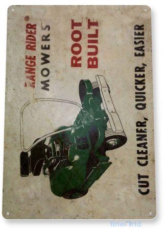 tin sign c828 range rider mowers rustic retro garage vintage lawn mower shop sign tinworld tinsign_com