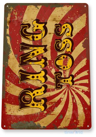 tin sign c829 ring toss coney island carnival games fair game room food truck stand tinworld tinsign_com