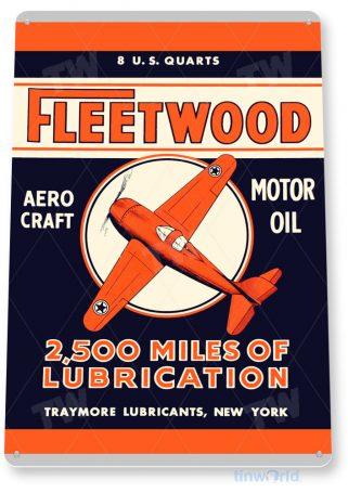 tin sign c832 fleetwood aviation motor oil retro rustic oil gas sign gas station garage hangar aero airport shop sign tinworld tinsign_com